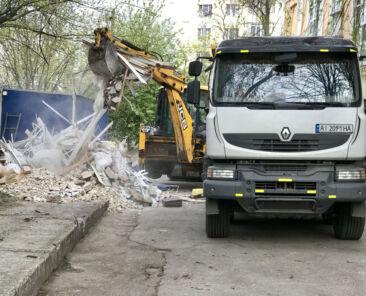 Вывоз строительного мусора и уборка территории в Борисполе