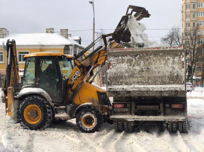 Расчитска снега спецтехникой - Трансавтогруп